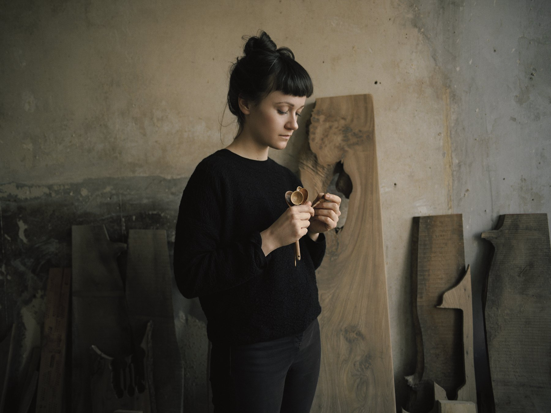 Catherine of Object Company in her workshop.